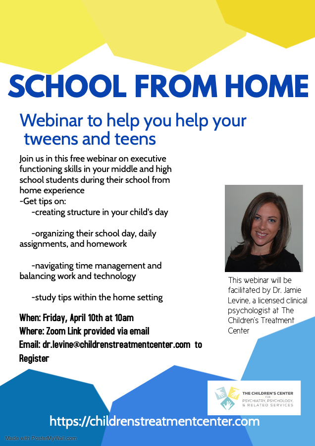 School from home webinar